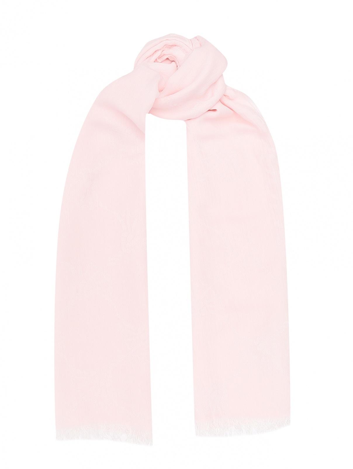 Шарф с узором и бахромой Joop!  –  Общий вид  – Цвет:  Розовый