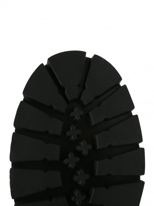 Ботинки кожаные на массивной подошве - Обтравка4