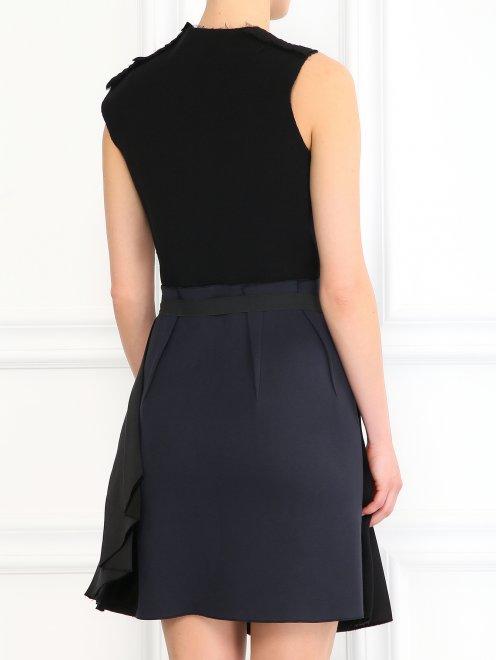 Платье из шелка декорированное кристаллами - Модель Верх-Низ1