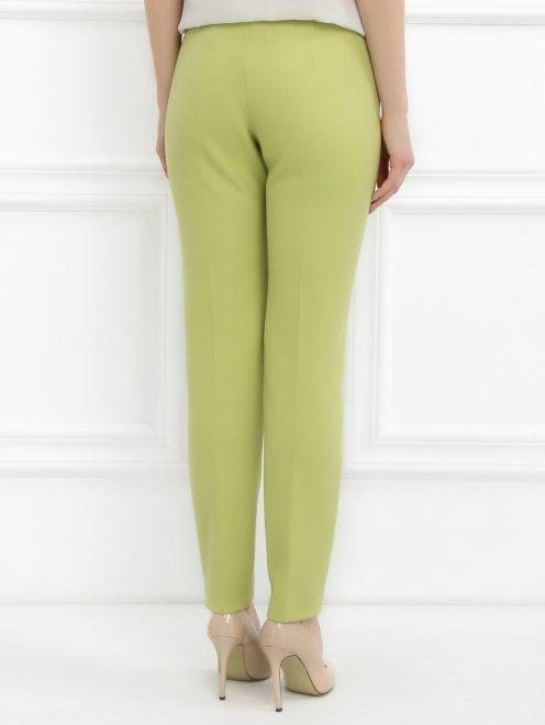 Укороченные брюки с металлической фурнитурой - Модель Верх-Низ1