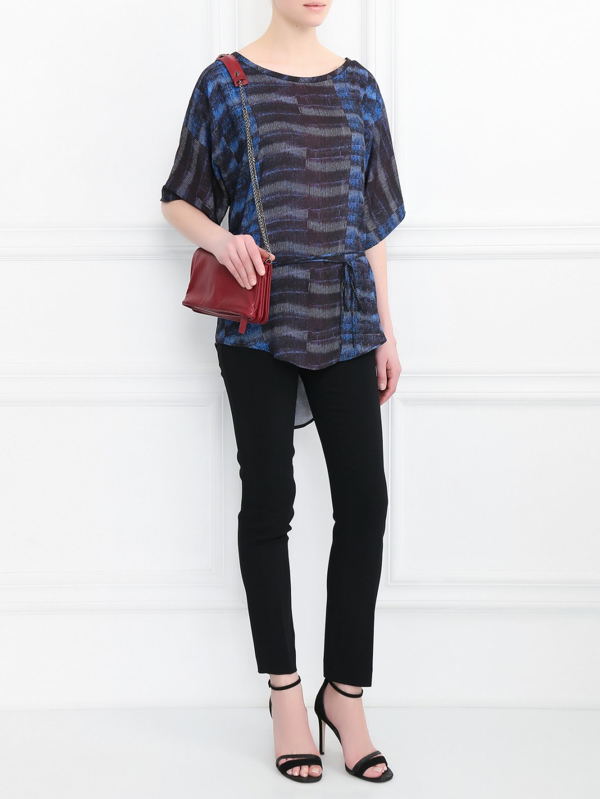 Блуза свободного кроя с узором See by Chloé  –  Модель Общий вид  – Цвет:  Узор